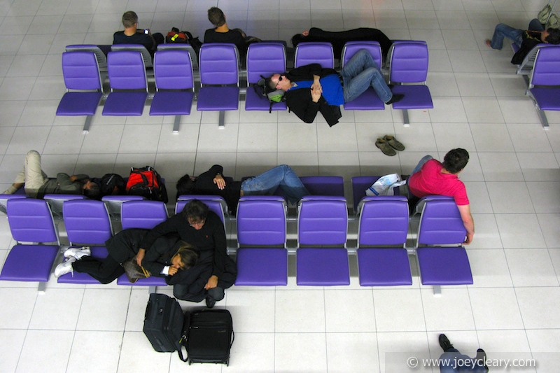 Delayed flight, Thailand 2010