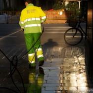 Street cleaner - Barcelona 2011