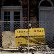 Sidewalk Closed - New Orleans 2010